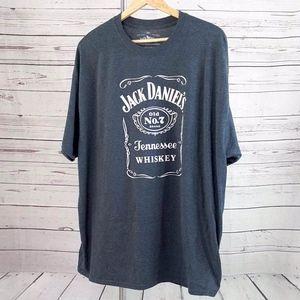 Jack Daniel's Tennessee Whiskey logo gray t shirt